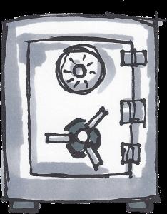 Symbolbild: Safe der andeutet, dass man im Web nchts bekanntgeben soll.