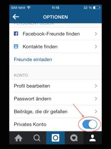 Instagram Privat Stellen
